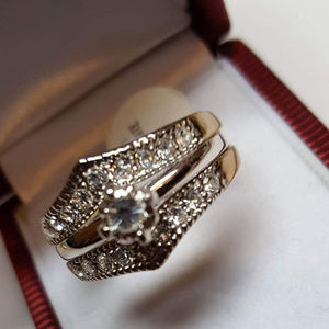 Ring Stackable Wedding Promise Engagement 3 IN ONE